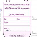 Printable Purse Invitation