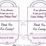 Printable Purse Thank You Cards