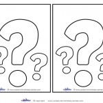 Blank Printable Question Mark Invitations