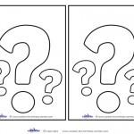 Blank Printable Question Mark Invitations