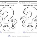 Printable Mystery Invitation