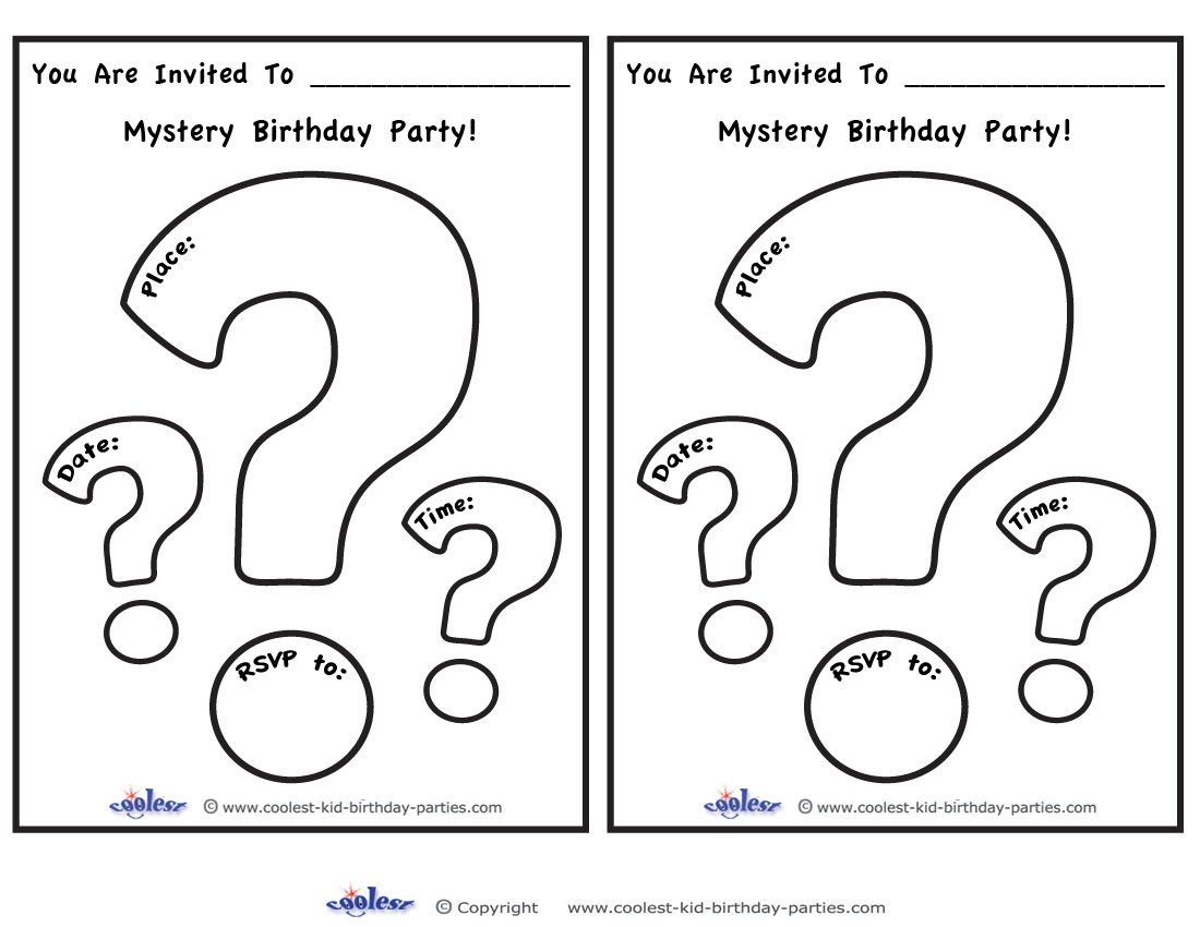 photograph relating to Printable Question Mark called Printable Surprise Mark Invites