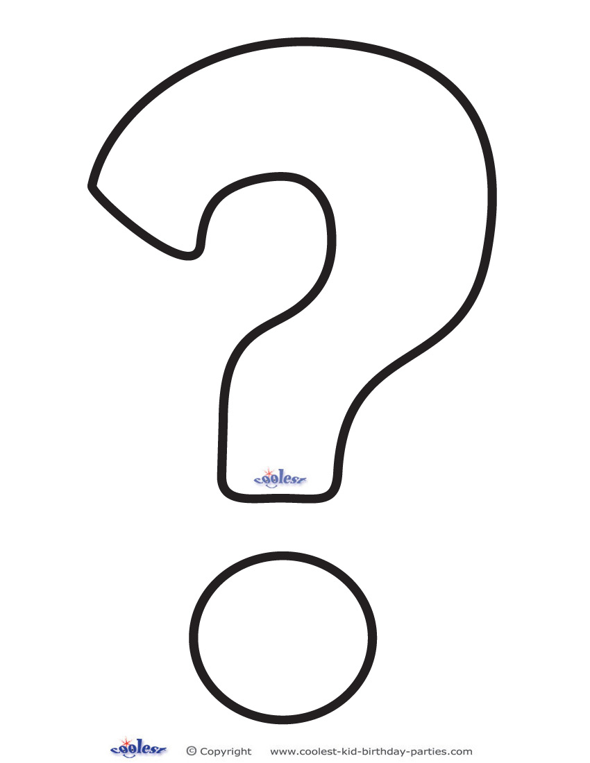 Coloring pages question mark - Printable Question Mark 1 Deco