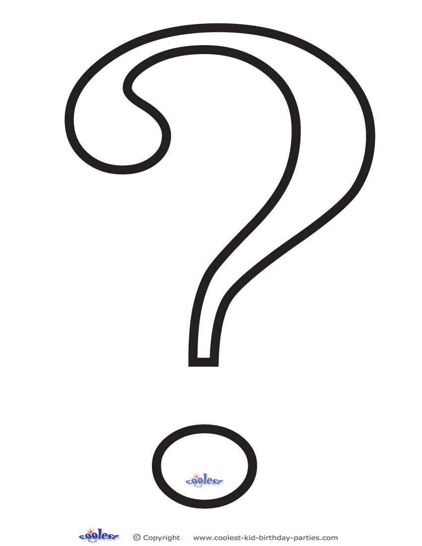 Coloring pages question mark - Download Printable