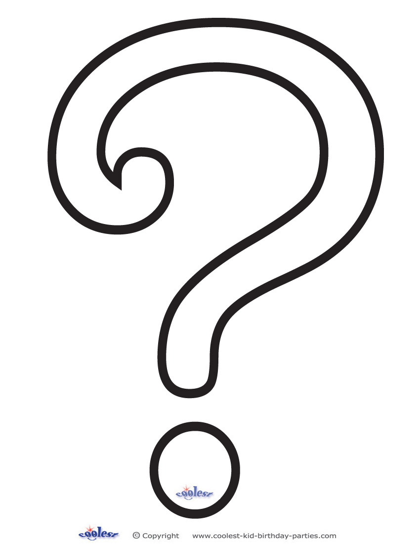 photo about Printable Question Mark known as Printable Speculate Mark 4 Decoration