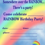 Printable Rainbow A5 Invitation