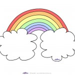Blank Printable Rainbow Invitations
