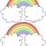 Blank Printable Rainbow Thank You Cards