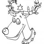 Printable B&W Reindeer