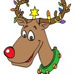 Printable Colored Reindeer