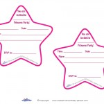Printable Round Star Invitations