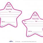 Printable Round Star Invitations