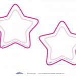 Blank Printable Round Star Invitations
