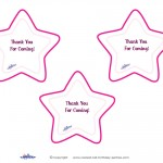 Printable Round Star Thank You Cards