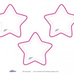 Blank Printable Round Stars