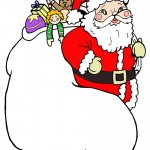 Large Printable Santa with sack