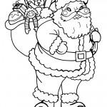 Printable B&W Santa 1