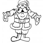 Printable B&W Santa 2