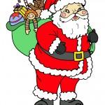 Printable Colored Santa 1