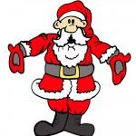 Printable Colored Santa 2
