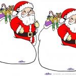 Blank Printable Santa with sack Invitations
