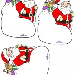 Blank Printable Santa with sack Thank You Cards