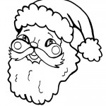 Printable B&W Santa Face