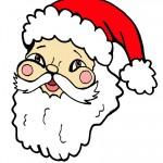Printable Colored Santa Face