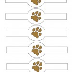 Printable Paw Print Napkin Holders