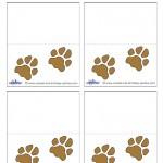 Printable Paw Print Placecards