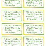 Printable Sesame Street Favor Tags