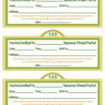 Printable Sesame Street Sign Invitation