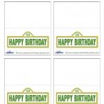 Printable Sesame Street Sign Placecards