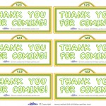 Printable Sesame Street Sign Thank You Cards