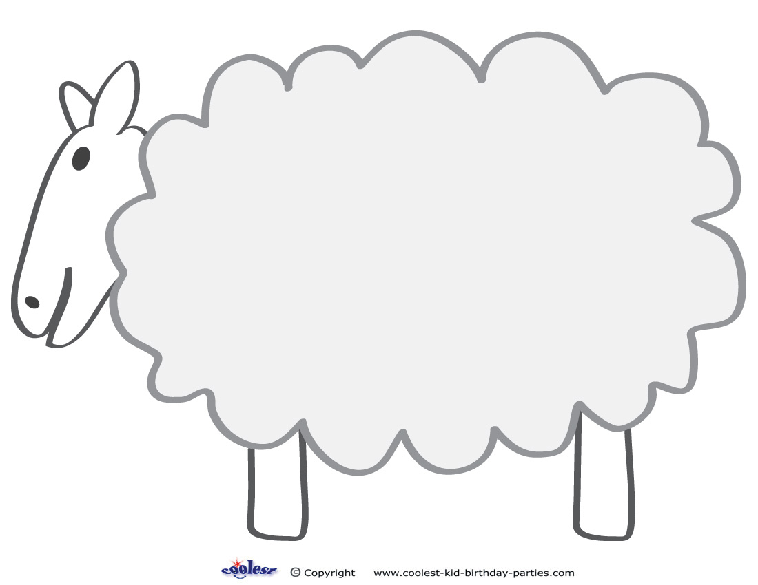 sheep template printable - Boat.jeremyeaton.co
