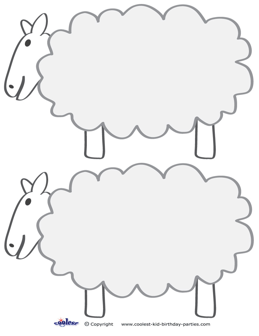 Medium Printable Sheep Decorations Coolest Free Printables