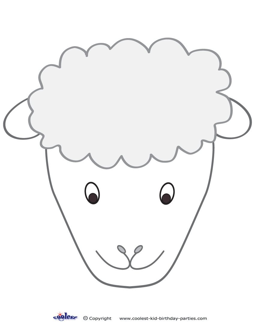 Large Printable Sheep Face Decoration