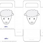 Printable Sheep Face Favorbag