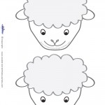 Blank Printable Sheep Face Invitations