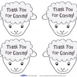 Printable Sheep Face Thank You Cards