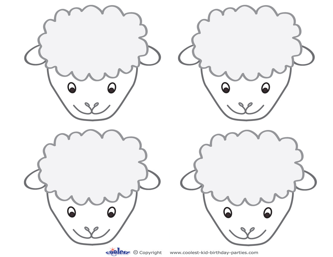 Blank Printable Sheep Face Thank You Cards Coolest Free Printables