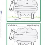 Printable Sheep Invitations
