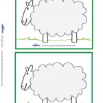 Blank Printable Sheep Invitations