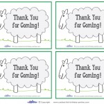 Printable Sheep Thank You Cards