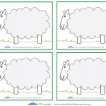 Blank Printable Sheep Thank You Cards