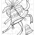 Printable B&W Bells Small-Piece Puzzle