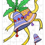Printable Colored Bells Small-Piece Puzzle