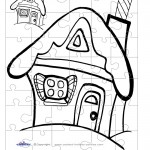 B&W Gingerbread House 1 Small-Piece Puzzle