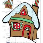 Colored Gingerbread House 1 Small-Piece Puzzle