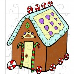 Colored Gingerbread House 2 Small-Piece Puzzle